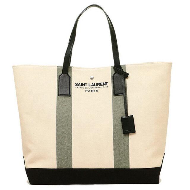 af747558ebab Laurent SAINT LAURENT 413054 GPD1E9762 Beach shopping East - West tote bag  light beige + Khaki ...