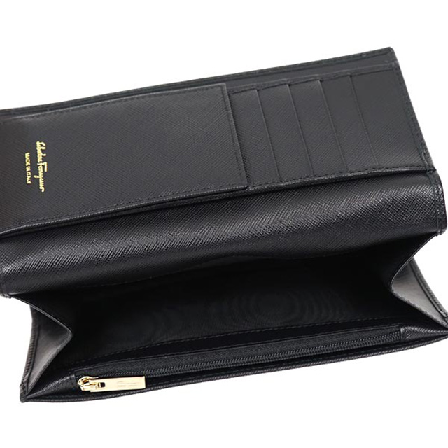 quality design ec215 f8382 Salvatore Ferragamo Salvatore Ferragamo wallet MISS VARA BOW CLIP V wallet  valaribon NERO black 22a900 588250 birthday brand new regular