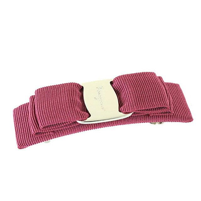 3915a0be11 Salvatore Ferragamo Salvatore Ferragamo hair accessories VARA 342017 658810  ヴァラ ribbon Valletta SANGRIA PLD dark pink   silver