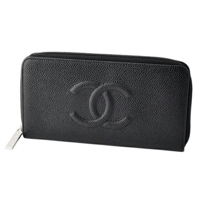 5e04d4286000 Chanel CHANEL 50071 Y01588 94305 COCO caviar skin embossed calfskin zip  wallet ladies wallets purse brand new unused new wallet caviar skin purse  leather ...