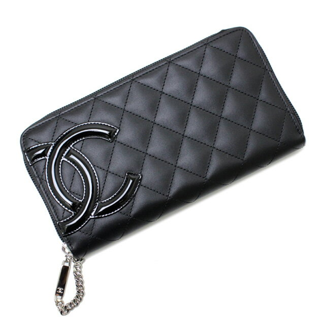 3312339a969d Chanel CHANEL 50078 Y03880 C2054 CAMBON NOIR/ROSE Cambon line enamel Coco  mark quilted zip ...