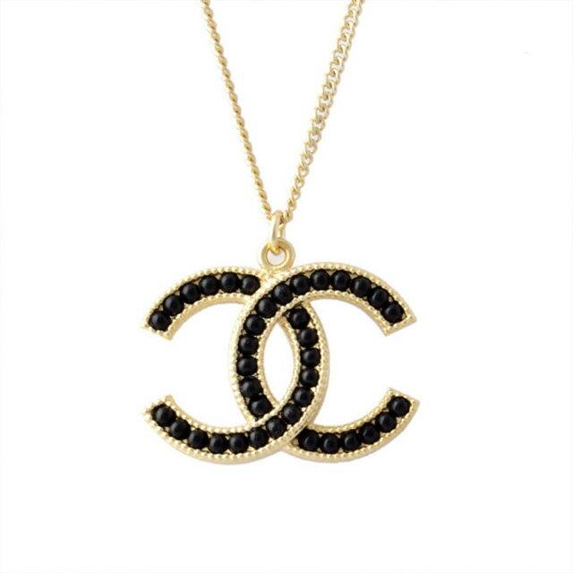 7058896fe5ab9 Chanel CHANEL 96099 DORE NOIR COCO Coco make CC logo x Black Pearl Necklace  pendant women s cc mark Coco make new gold new Pearl regular black presents  ...