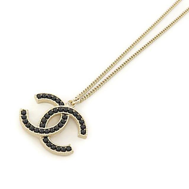 c5cc145321abb Chanel CHANEL 96099 DORE/NOIR COCO Coco make CC logo x Black Pearl Necklace  pendant women's cc mark Coco make new gold new Pearl regular black ...