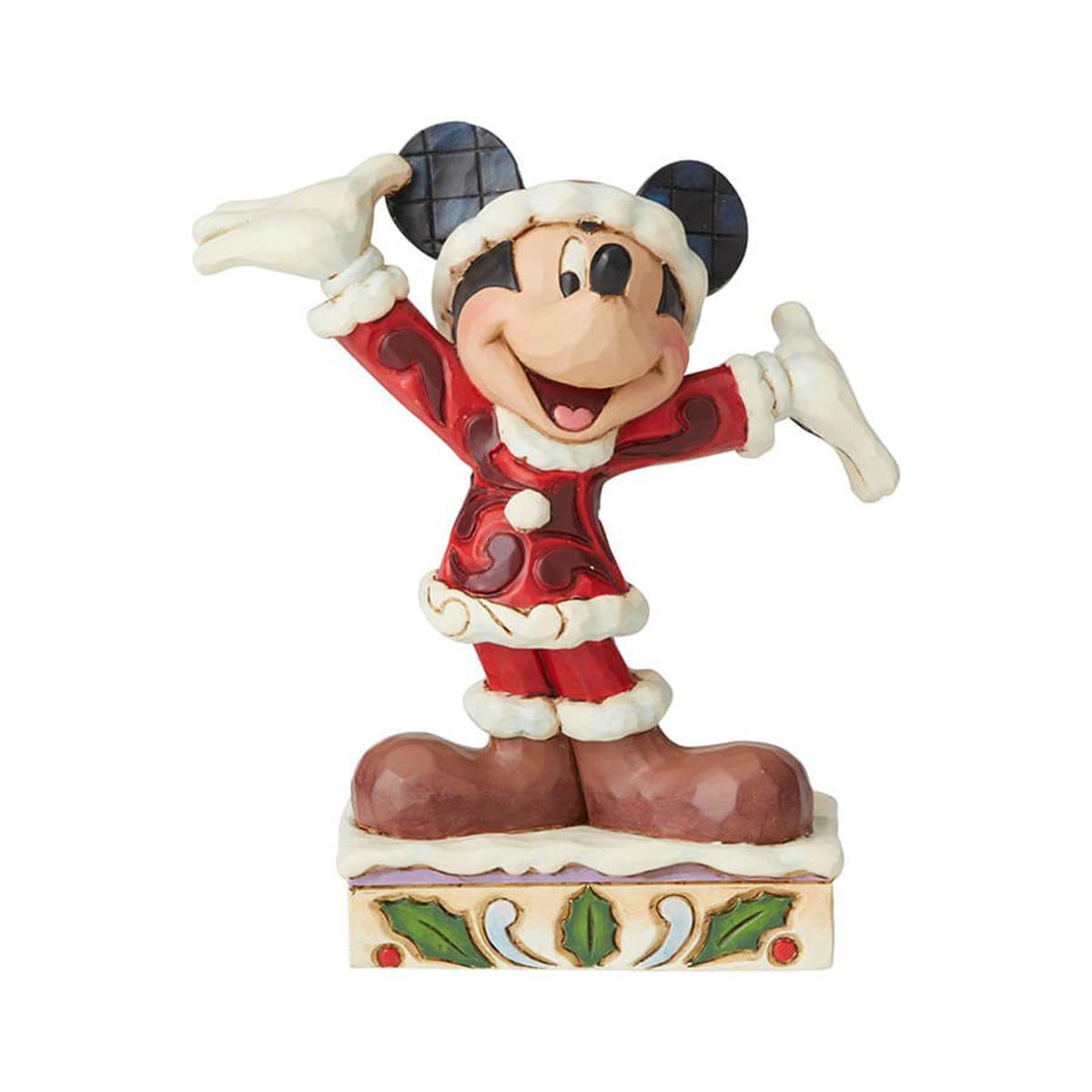 Jim Shore ジム ショア フィギュア ミッキー ワンダフルクリスマス 6002842 Disney ディズニートラディション enesco. エネスコ クリスマス サンタクロース 木彫り調 置物 飾り ディスプレイ 雑貨 プレゼント ギフト
