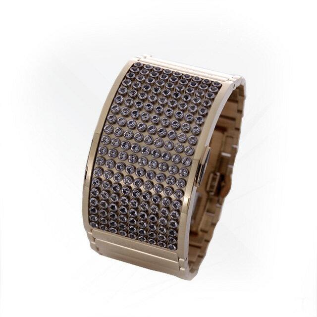 スワロフスキー 腕時計 レディース ブランド 新品ディーライト デジタルディスプレイ ゴールド オレンジ
