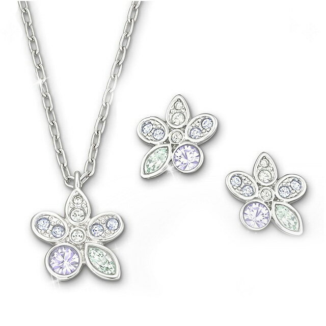 Swarovski Necklace Earrings Pendant Earring 1179743 Rose Set Pdt