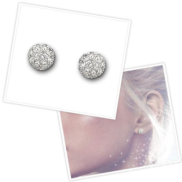 Swarovski Pierced Earrings Emma Crystal Lady S