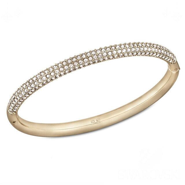 スワロフスキー SWAROVSKI Stone Mini Rose Gold シルククリスタル パヴェ バングル Sサイズ 5032849