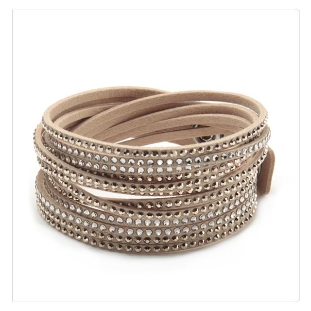 Swarovski bracelet SWAROVSKI Slake Silk wrap double,wound type 12,Crystal  bracelet 5043495