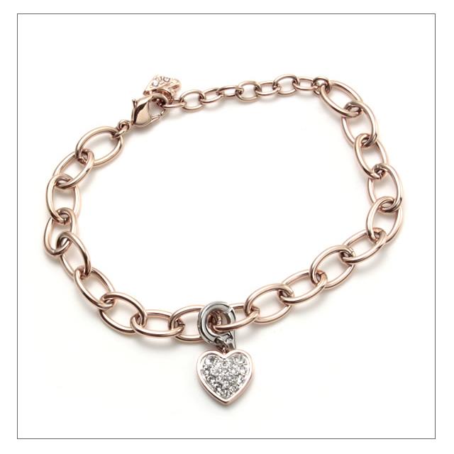 Swarovski bracelet SWAROVSKI Heart with heart charm chain bracelet 5052532