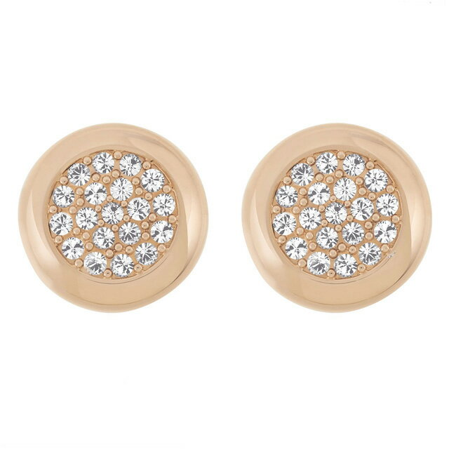 Swarovski Stone Stud Rose Gold Crystal Pave Earrings 5069729
