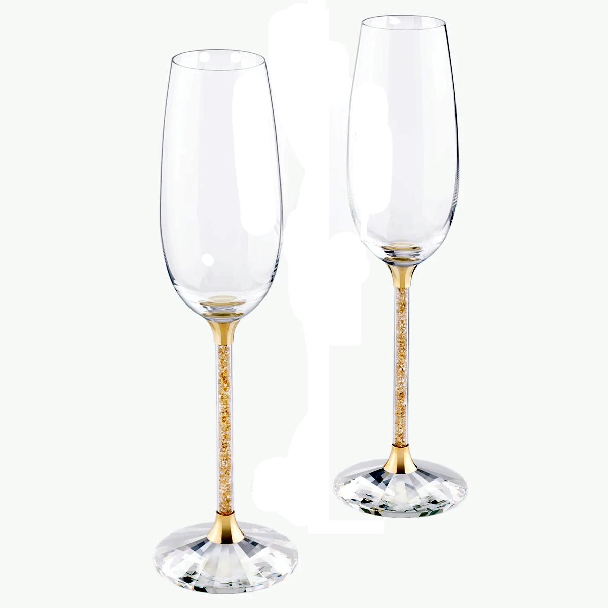 Salada Bowl Swarovski Swarovski Pair Champagne Glass Flute Glass