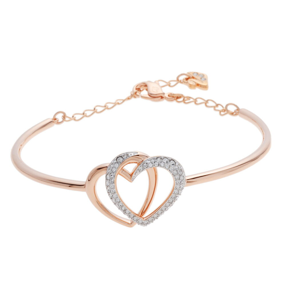 Swarovski Double Heart Bracelet 5194838 Dear Deer Gold Silver