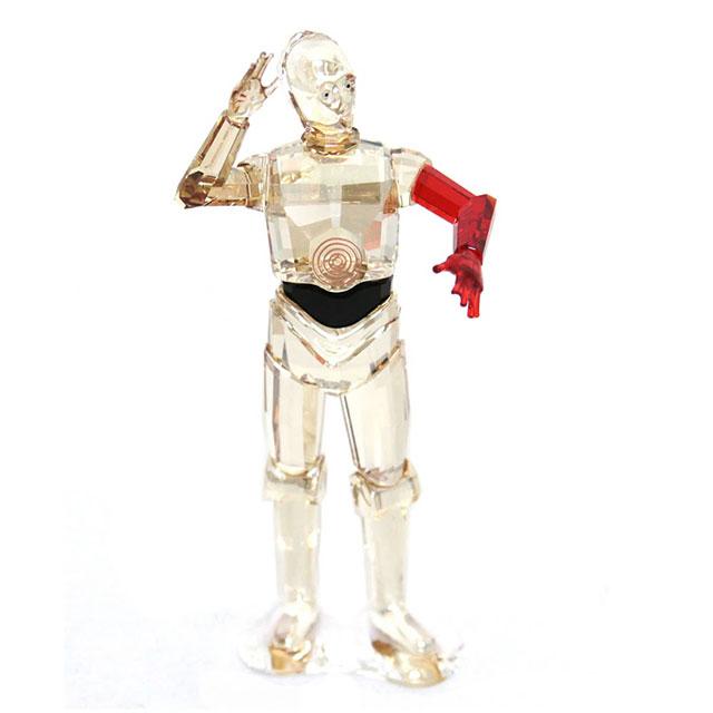 スワロフスキー SWAROVSKI クリスタル フィギュア 置物 Disney Star Wars ディズニー スターウォーズ 「C-3PO」5290214