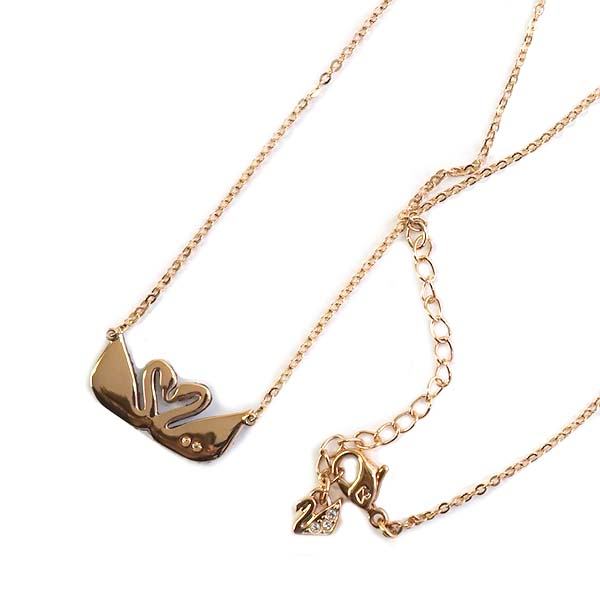 64532b86edb20 Swarovski SWAROVSKI necklace pendant 5296468 icon swan double ICONIC SWAN  DOUBLE gold + black