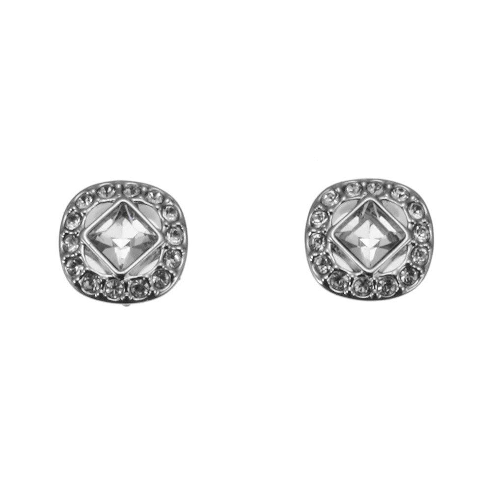 ffa7730c1 Swarovski SWAROVSKI pierced earrings 5368146 Angelic Square Angers Rick  square silver ...