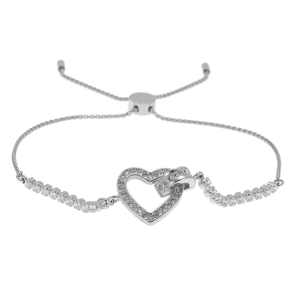 Swarovski Heart Bracelet 5380704 Lovely Love Lee Silver