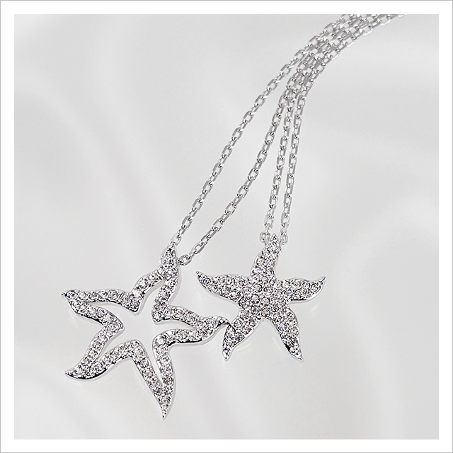 Swarovski starfish necklace necklace wallpaper gallerychitrak salada bowl rakuten global market swarovski necklace aloadofball Gallery
