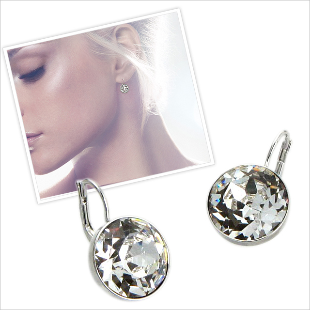 9de54c933 Salada Bowl: Swarovski Bella Clear Crystal pierced earrings women's ...