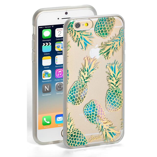 ソニックス SONIX iPhone 6 / iPhone 6s ケース LIANA (TEAL) アイフォン6 アイフォン6s パイナップル パインアップル クリア+グリーン+ゴールド iPhone6ケース アイフォンケース アイフォン6ケース ブランド 女性 新作