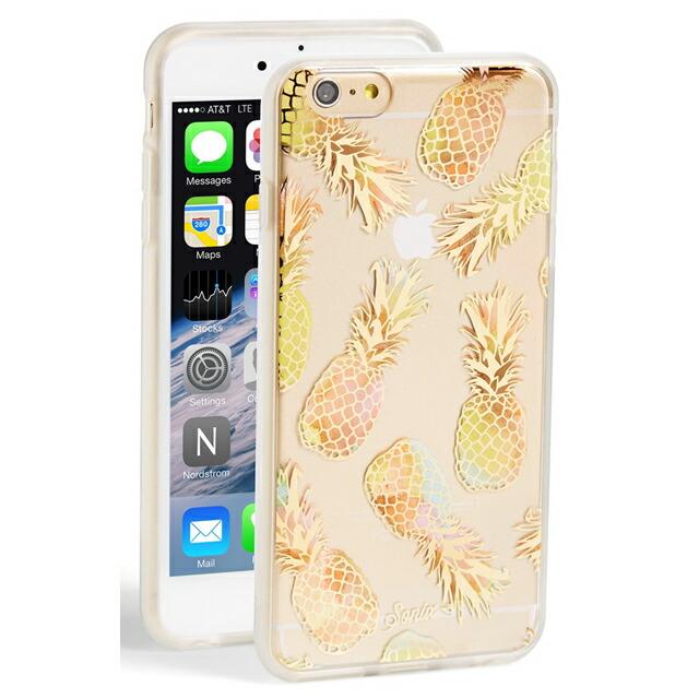 ソニックス SONIX iPhone 6 Plus / iPhone 6s Plus ケース Liana (Peach) アイフォン6 アイフォン6s パイナップル パインアップル クリア+レインボー+ピーチ・ゴールド iPhone6Plusケース アイフォン6プラスケース ブランド 女性 新作
