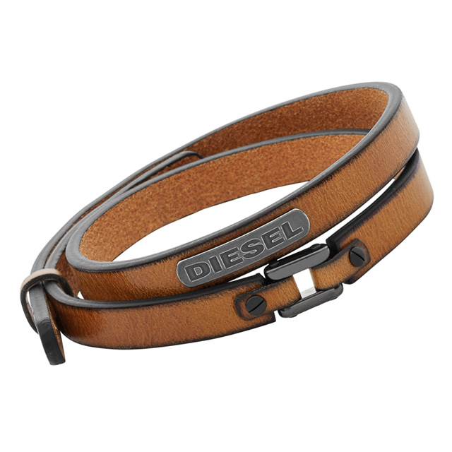 b303724a53b63 Diesel DIESEL DX0984040 leather double wrap men's Bracelets Leather silver  stainless steel denim brand ranking popular brand new new Christmas gifts