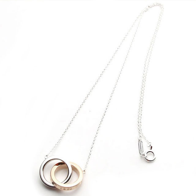 d034d5f5ca29 New TIFFANY Tiffany s Necklace accessories 1837 interlocking circles brand  ladies pendant sterling silver 18 K Rose Gold fs2gm