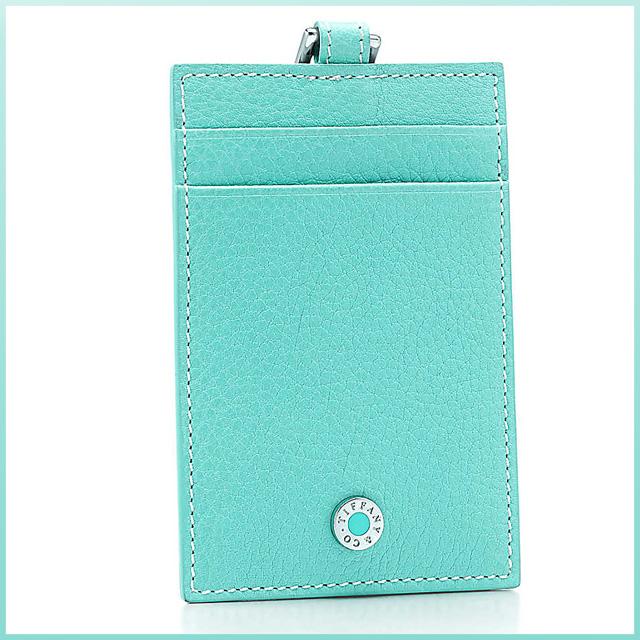 持卡人蒂芙尼Tiffany&Co. 卡片匣路径情况ID持有人颈吊带蒂芙尼蓝色皮革名牌