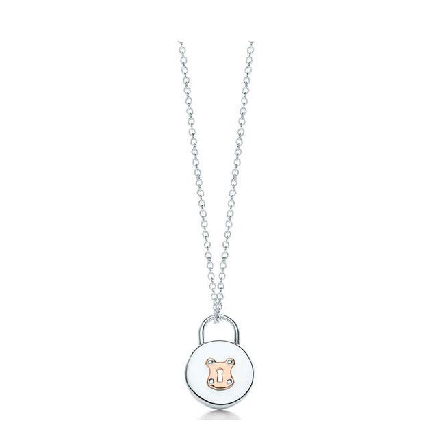 Latest New TIFFANY Tiffany Ladys Accessories Present Birthday Gift Lock Vintage Round Pendant Mini 16in SS 18R 26914671