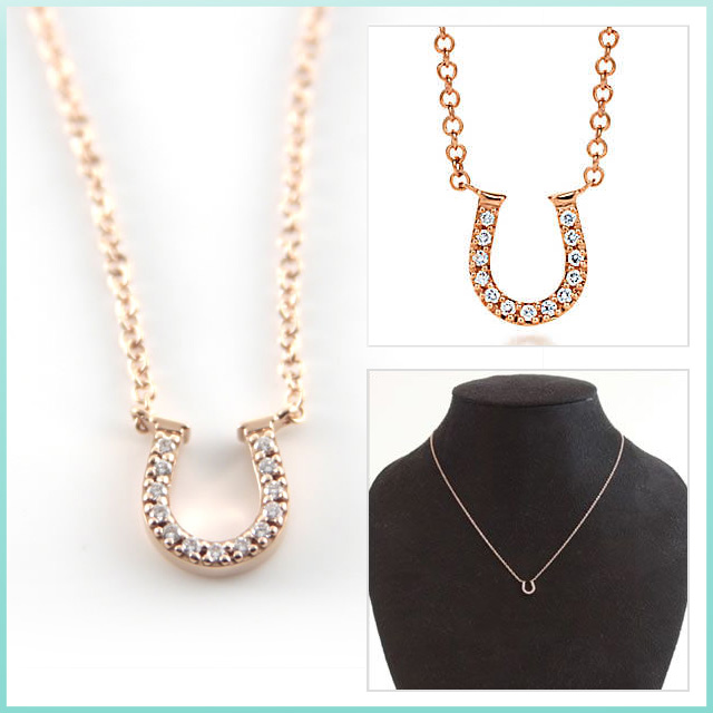 5f0f538b7 Tiffany Horseshoe Pendant Rose Gold - Pendant Design Ideas