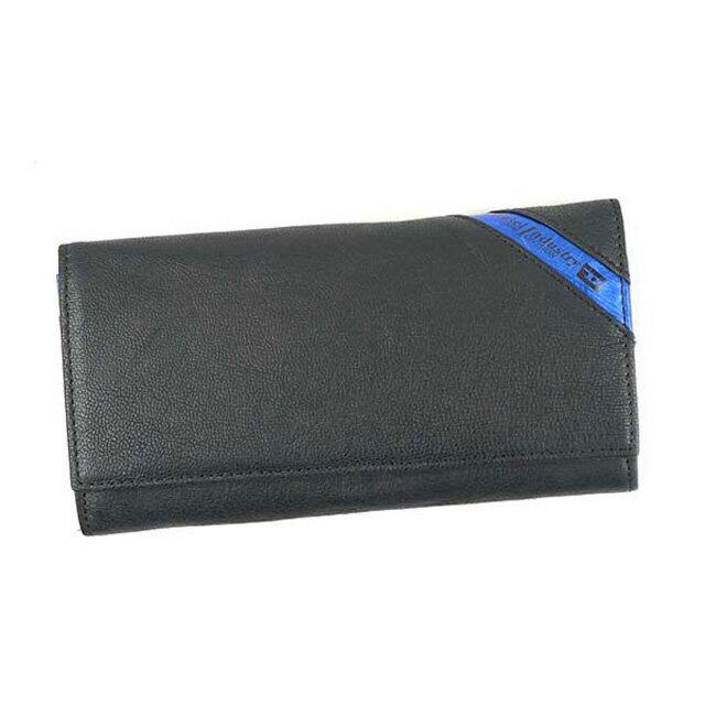 ディーゼル DIESEL 財布 X03608 P1221 H6169 24 A DAY フラップ長財布 メンズ レザー BLACK/COBALTO ブラック+コバルトブルー