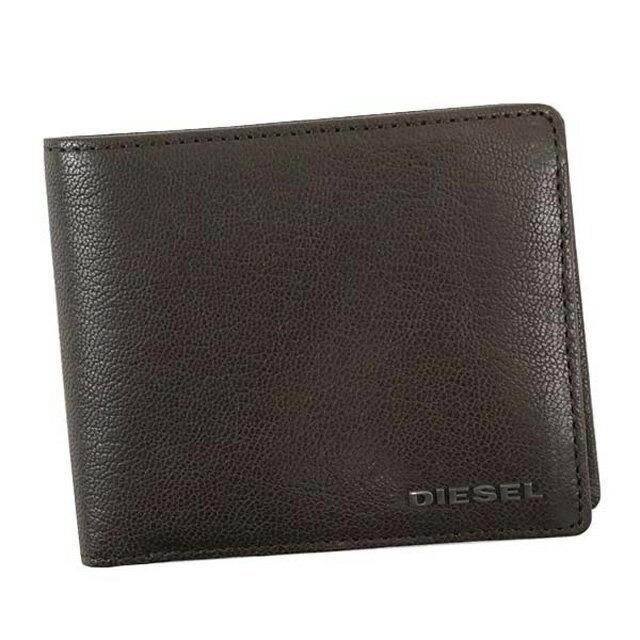 ディーゼル DIESEL 財布 X03925 PR271 T2189 HIRESH S 二つ折り財布 メンズ レザー SEAL BROWM ダークブラウン系