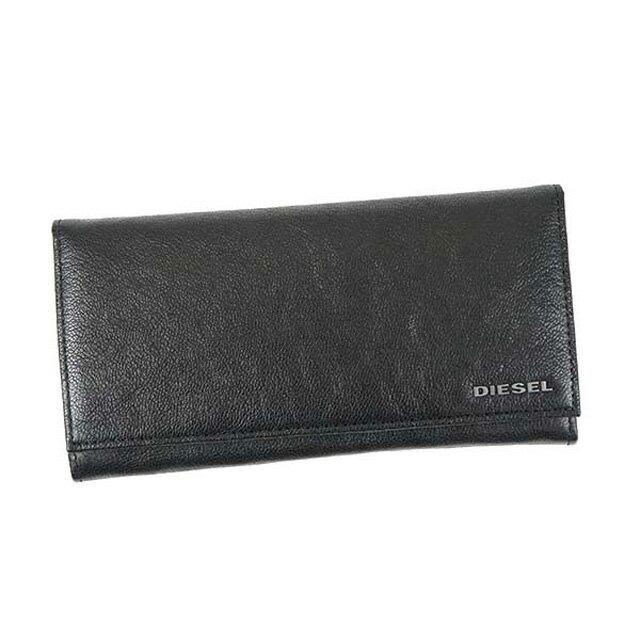 ディーゼル DIESEL 財布 X03928 PR271 T8013 24 A DAY フラップ長財布 メンズ レザー BLACK ブラック