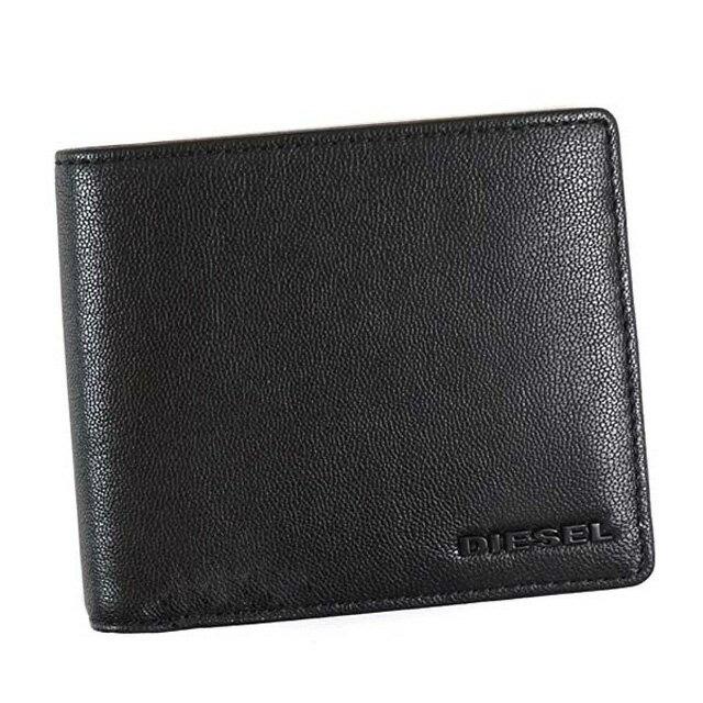 ディーゼル DIESEL 財布 X04459 PR227 H3350 HIRESH S 小銭入れ付き 二つ折り財布 BLACK/BLAZING YELLOW ブラック+レモンイエロー系