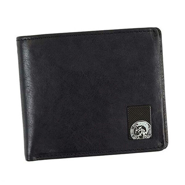 ディーゼル DIESEL 財布 X04480 PR013 T8013 HIRESH S 小銭入れ付き 二つ折り財布 BLACK 黒
