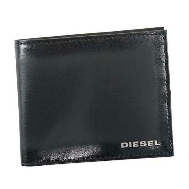 ディーゼル DIESEL 財布 X04750 P0231 T8013 HIRESH S 二つ折り財布 メンズ レザー BLACK ブラック