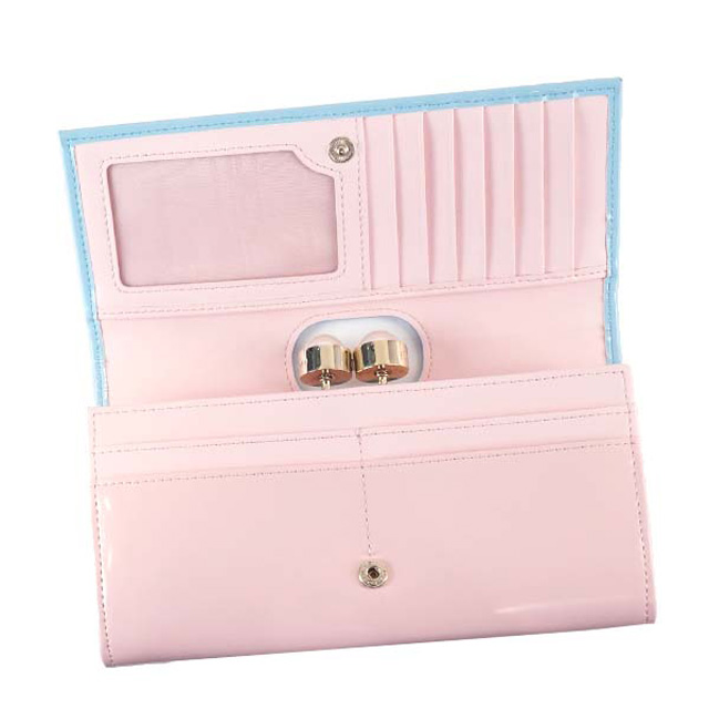 8be6b158f Ted Baker Ted Baker TED BAKER MERAY flap type pouch long wallet PEARL  BOBBLE HIGHBOX MATINEE BABY BLUE light blue + light pink 133614 18