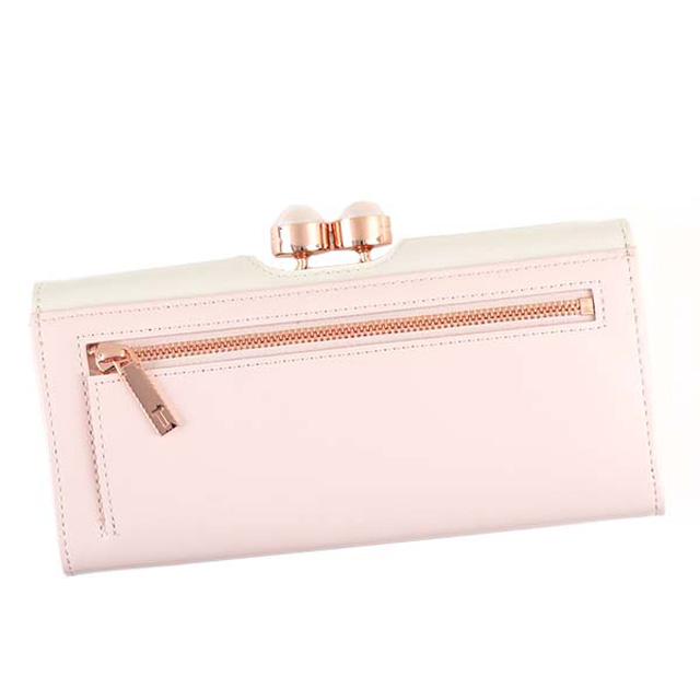 8ffacbc1eda8 Ted Baker Ted Baker TED BAKER MERAY flap type pouch long wallet PEARL  BOBBLE HIGHBOX MATINEE ECRU light beige system 133614 98
