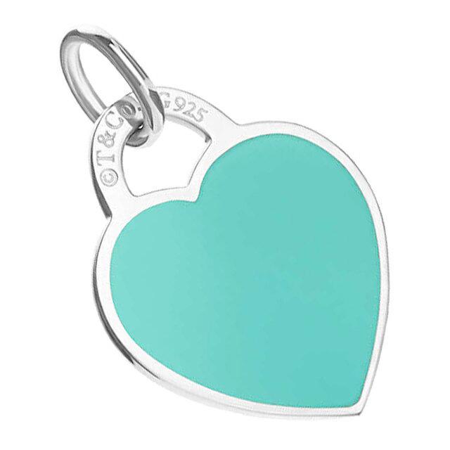 Tiffany Co Return Toe Heart Tag Charm Pendant Top Blue Enamel Finish Necklace Bracelet Silver Casual