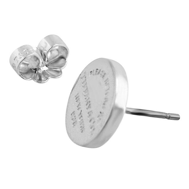 Return to Tiffany circle stud earrings in sterling silver Tiffany & Co. ecOZO7D