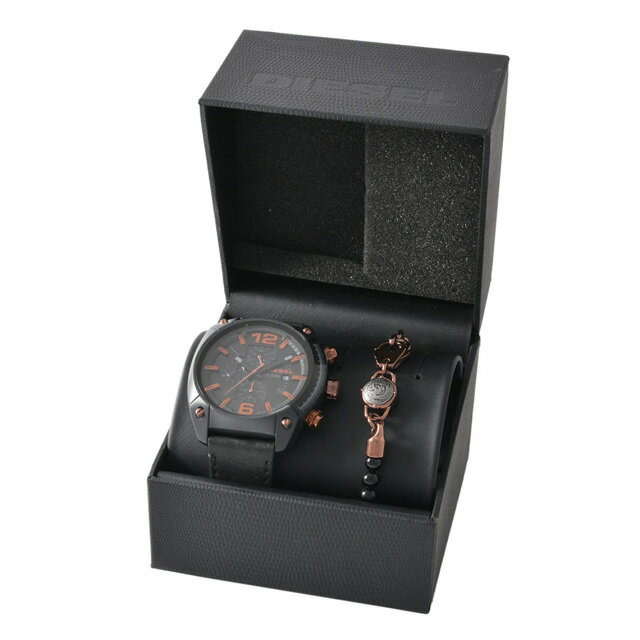 ディーゼル DIESEL DZ4462 OVERFLOW オーバーフロー メンズ 腕時計 ブレスレット セット ブラック+コッパーブロンズ
