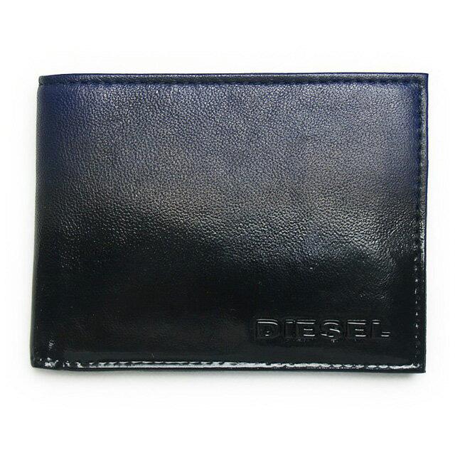 ディーゼル DIESEL 財布 X02455 P0239 H5090 小銭入れ付き 二つ折り財布 DEEP COBALT/BLACK ネイビー+ブラック
