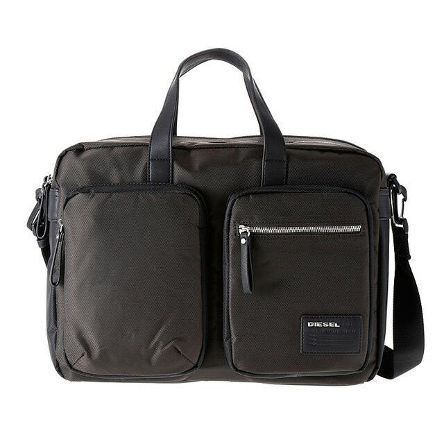 ディーゼル DIESEL バッグ X03000 P0409 H2953 2way ビジネスバッグ 斜めがけショルダー ブリーフケース COFFEE BEAN/BLACK ダークブラウン