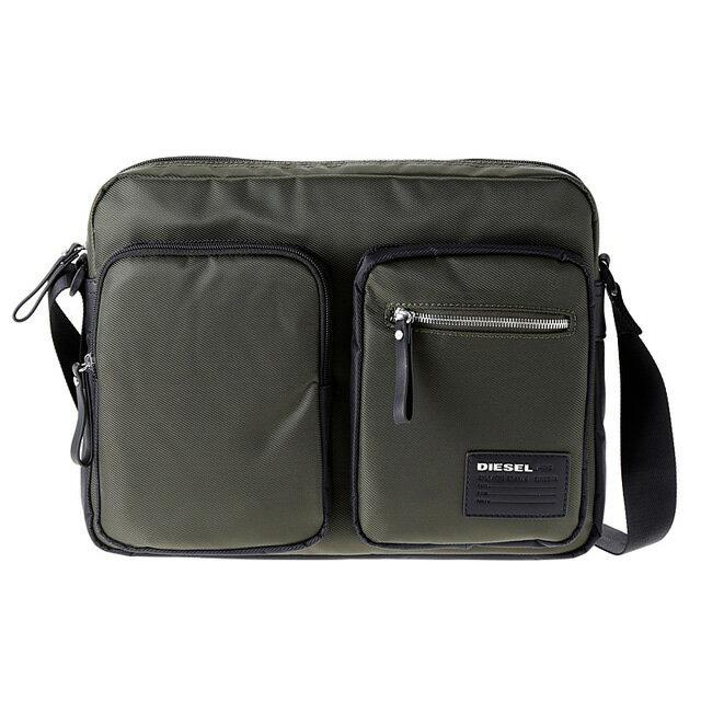 ディーゼル DIESEL バッグ X03021 P0409 H2110 斜めがけショルダーバッグ FOREST NIGHT/BLACK グレー系カーキグリーン