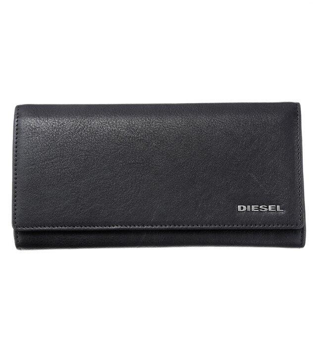 ディーゼル DIESEL X03359 PR013 H2926 フラップ長財布 BLACK/ACID GREEN ブラック+蛍光グリーン系