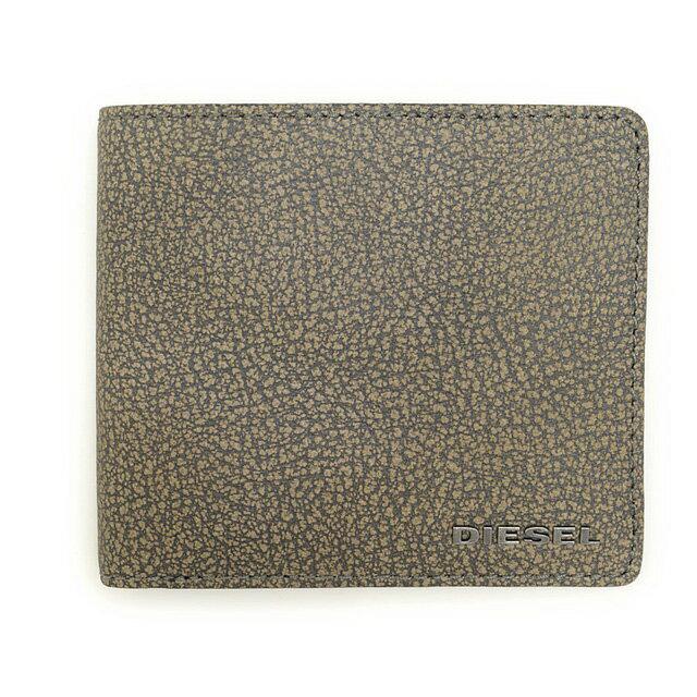 ディーゼル DIESEL 財布 X03617 P0396 T8077 小銭入れ付き 二つ折り財布 WILD DOVE グレーベージュ系