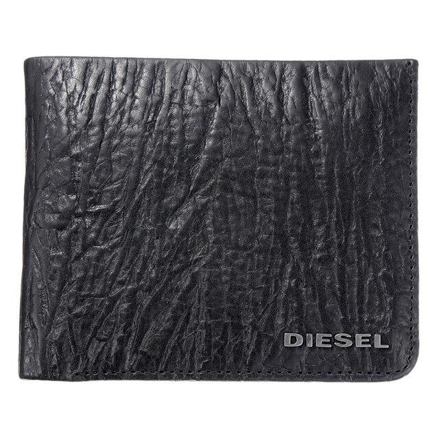 ディーゼル DIESEL 財布 X04138 PR080 T8013 小銭入れ付き 二つ折り財布 BLACK ブラック