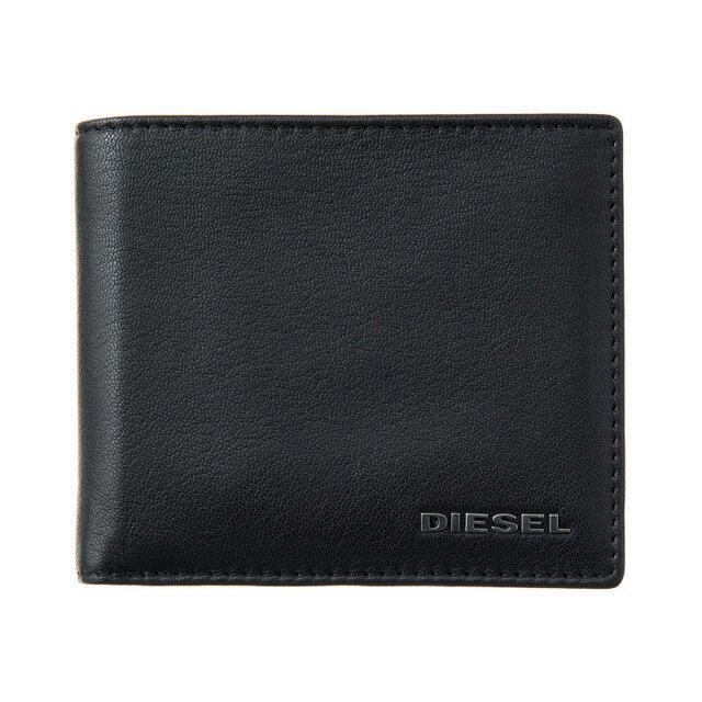 ディーゼル DIESEL 財布 X04459 PR227 H5644 小銭入れ付き 二つ折り財布 ブラック+レッド