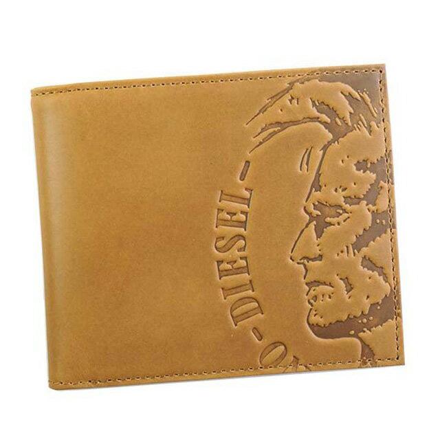 ディーゼル DIESEL X04763 PR160 T2278 HIGH PROFILEE HIRESH S 小銭入れ付き 二つ折り財布 GOLDEN BROWN ライトブラウン