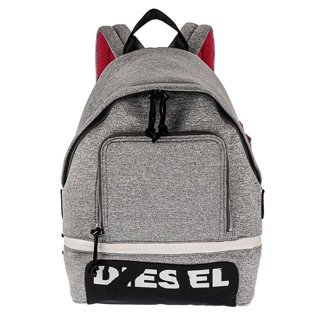 ディーゼル DIESEL リュックサック X04807 P1529 T8087 F-SCUBA BACK バックパック グレー+ブラック+レッド